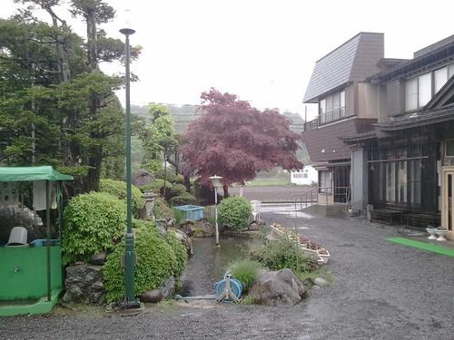 土砂降りの合宿宿舎