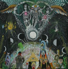 ASTRAL RISE ( DDLS ) Tags: trees moon painting gold visions magick eagle magic lion palm tarot rise astral visionary cycles kundalini