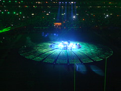 The Who performing at the Super Bowl XLIV halftime show. (covinoandrich) Tags: show light party hotel florida miami rich super bowl sirius maxim bud 44 xm xliv covino