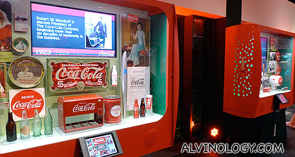 Various Coca-Cola exhibits