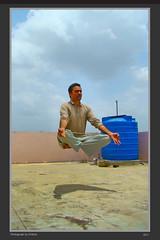 Levitation (kittub) Tags: blue portrait sky selfportrait self fly jump sony magic floating levitation bluesky meditation float watertank levitate sonydsch9 dsch9 persioninair