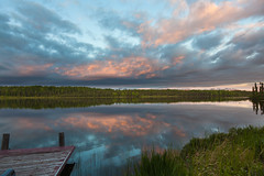 It's Been So Long (code poet) Tags: sunset lake water alaska clouds landscape dock 5d wasilla 24105mm