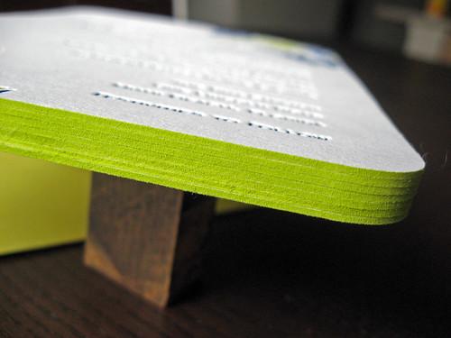 Feathered Flourishes Letterpress Invite