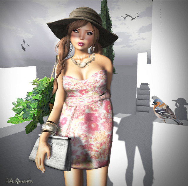 GIEREH Lucyanni Dress -PinkFloral-& Tinna Hat