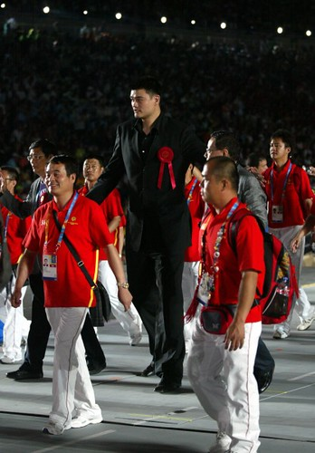 June 26, 2011 - Yao Ming at the Opening Ceremony of the Special Olympics in Athens