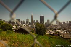 IMG_8449 (Ah-Hei) Tags: sanfrancisco california sepia warm downtown coittower baybridge daytime transamerica