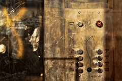 Levels No.2 (365-180) (David Guidas) Tags: urban abstract detail graffiti pentax buttons garage elevator 365 tones topaz project365 k20d pse6 da55300 2011inphotos