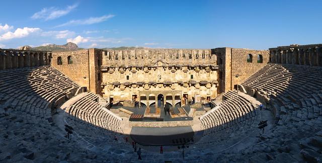 Aspendos劇院全景
