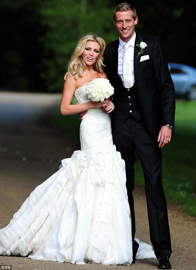 Nice day for a WAG wedding as Peter Crouch ties the knot with Abbey Clancy  1