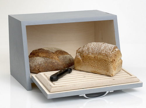 Wooden painted breadbin