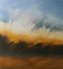 orange over downs 110 x 120cm