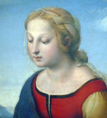 Raphael, La belle jardinière, detail of Mary