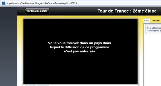 Tour de France  2ème étape en live  RTBF - Mozilla Firefox 03072011 94001 AM