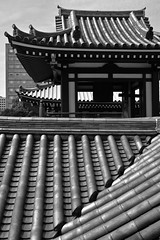 Fukuokan Architecture (Mondmann) Tags: architecture traditionalarchitecture japanesearchitecture tochojitemple bb pb temple building structure roof tiles fukuoka japan asia mondmann nikond7100