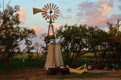 Windmill memories HWW (The Old Texan) Tags: farm sunset windmill d7100 nikon rural memories texas clouds sky