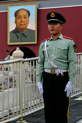 Frowning at Chairman Mao (drcursor) Tags: mao china forbiden city beijing