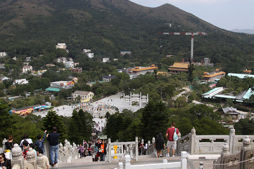 Looking down the from 'Big Buddha'