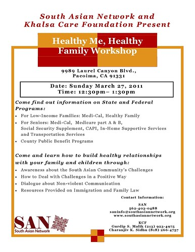 Healthy Me, Healthy Family Workshop