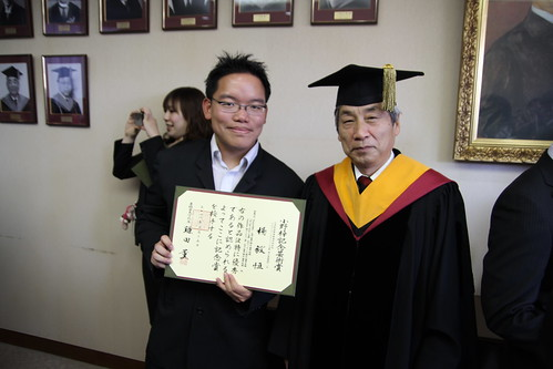 With Shuji Hashimoto, the vice-president of Waseda University