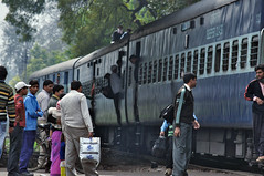 Train in India (Dawn Woodhouse) Tags: people india beautiful nikon asia delhi transport explore stunning excellent orient popular picturesque musictomyeyes wow1 cantt finegold flickrexplore photohobby ttrain explored thethreeangels nikond90 flickraward flickrbronzeaward peaceawards thebestshot dawnwoodhouse bestpeopleschoice