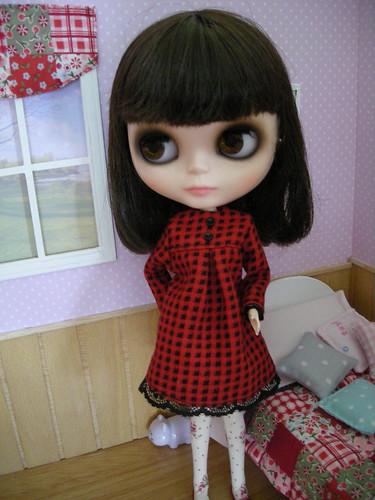 April con su vestido nuevo