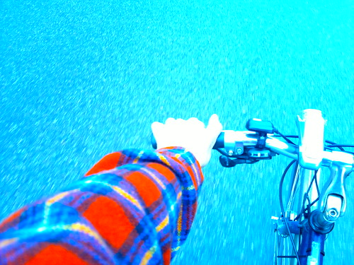 Beautiful plaid/check/tweed bicycling day in Blue #changeyourliferideabike  - 033120114653