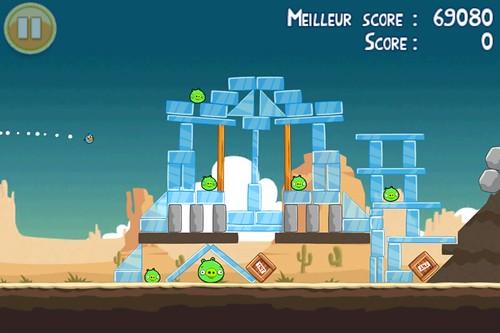 Capture d'écran du jeu Angry Birds
