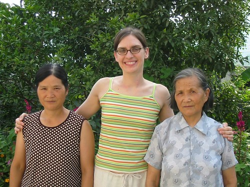 Me with my Chinese mother-in-law and Chinese grandmother-in-law