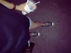 (Juuuuuuune) Tags: feet girl self shoe drink young sneakers converse teenager allstar