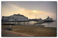 Eastbourne Pier (El Gibbo) Tags: morning sea england beach sunrise sussex pier nikon pebbles east eastbourne hdr photomatix d7000 worldhdr