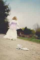 {cinderella} (tolly p) Tags: grass barn shoe spring windy running skirt dirtroad cinderella