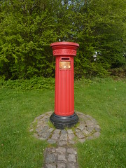 Old Fluted Pillar Box. (Caroline & Phil Bunford) Tags: old history rural vintage victorian smith streetfurniture past solihull midlands 1856 1857 hawkes