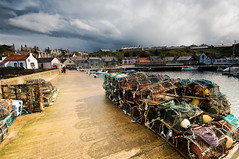 Creels at Findochty Harbour (James_at_Slack) Tags: boats scotland harbour stormy rope stuart floats findochty creels paintedhouses fishingtown banffshire hdrwithoutthehdr