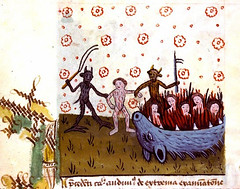 Hell. 1461. Lyon BM ms 2045  Enlumin. (tony harrison) Tags: devils hell apocalypse medieval middleages demons illuminatedmanuscripts