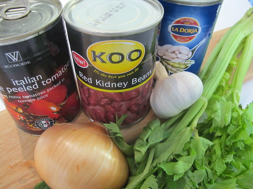 Ingredients for the bean soup