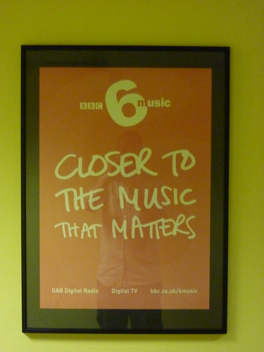 6music poster in BBC New Broadcasting House, Manchester