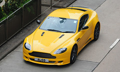 Aston Martin - V8 Vantage - ALCO (Stewart Else) Tags: cars beauty car yellow island hongkong power exotic expensive astonmartin admiralty wanchai sould v8vantage