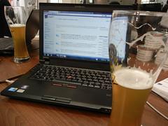 """Der """"Bayerntag"""" wird zelebriert (Hallo Welt!) Tags: hannover messe hallo welt halle2 2011 bluecraft"""