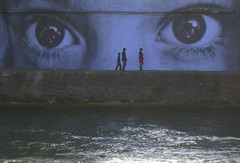 In your eyes (Py All) Tags: street city people paris france eye art face collage wall seine river island eyes europe rivire exhibition oeil yeux capitale saintlouis 75 rue mur 75004 iledefrance personnes ville nuitblanche visage fleuve le   lesaintlouis