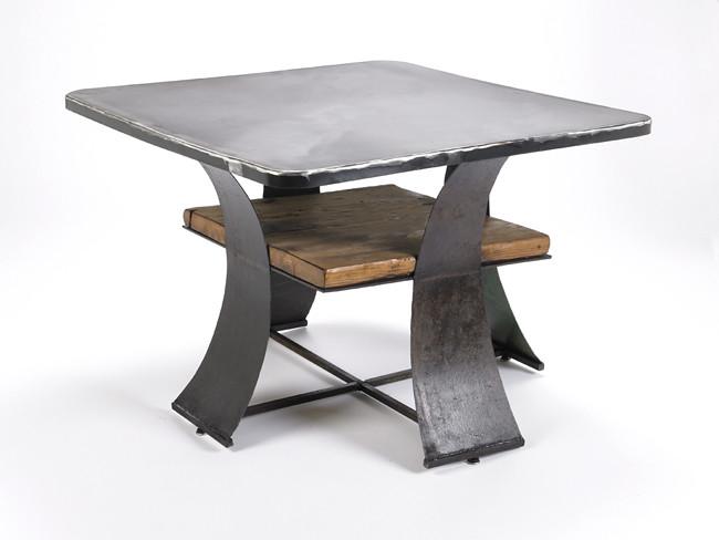 Steel and Barn Coffee Table