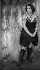 Dream Land (ILLA PHOTOGRAPHY) Tags: wedding portrait white black texture dress goth tasha