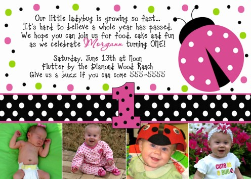 ladybug birthday invitations a set by poshnchicprints, Birthday invitations