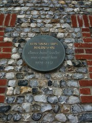 Photo of Ken 'Snakehips' Johnson grey plaque