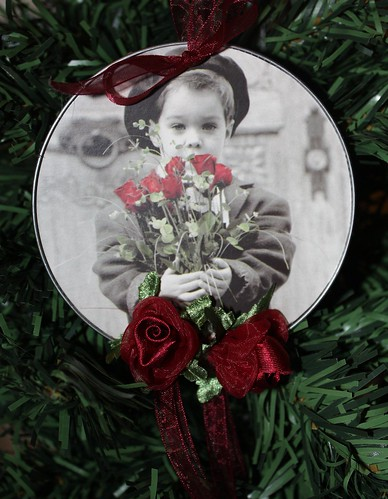 Recycled Valentines Ornament