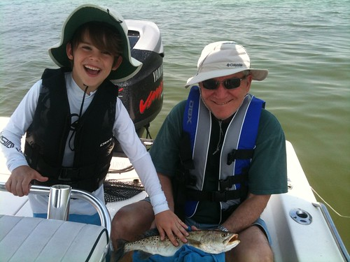 Alex and Nate went charter fishing with Grandpa by MikeWas