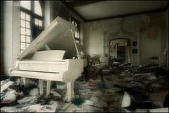 and a fine party it was too (Romany WG) Tags: france abandoned beautiful piano grand chateau urbex hauntingly