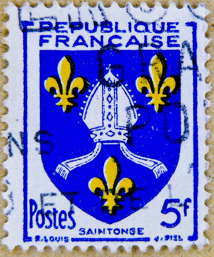 french stamp France 5 f postage poste timbre Republique Francaise selo francobolli Francia