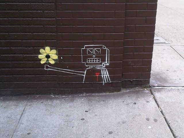 robotic flower offering