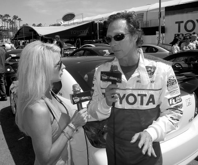 Jennifer Lexon, William Fichtner, Toyota Grand Prix Celebrity Race