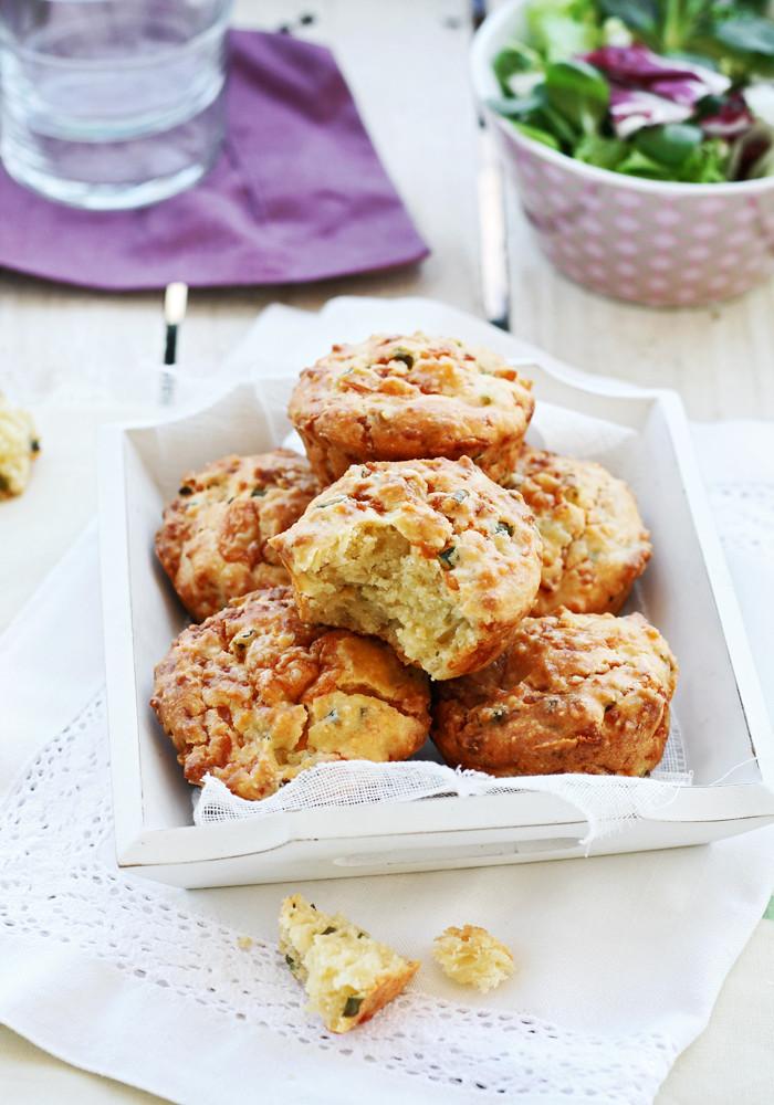 muffins de gruyère y cebollino